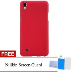 Nillkin For LG X POWER / K220Y Super Frosted Shield Hard Case Original - Merah + Gratis Anti Gores Clear