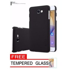 Nillkin For Samsung Galaxy J7 Prime / ON 7 Super Frosted Shield Hard Case Original - Hitam + Gratis Anti Gores Clear