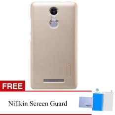 Harga Termurah Nillkin For Xiaomi Redmi Note 3 Super Frosted Shield Hard Case Original Emas Gratis Nillkin Screen Protector