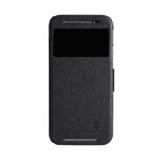 Nillkin Fresh Leather Case HTC One M8 Casing Cover Flip -Hitam