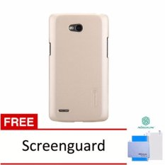 Nillkin  Frosted Case Lg L80 (D380) - Emas + Free Screen Protector(Off White)