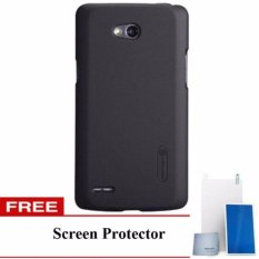 Nillkin  Frosted Case Lg L80 (D380) - Hitam + Free Screen Protector(Off White)