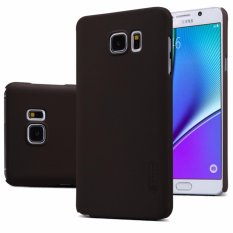 Review Nillkin Frosted Case Samsung Galaxy Note 5 N920 N9200 Coklat Free Screen Protector Nillkin