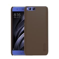 NILLKIN Frosted SHIELD untuk Xiaomi Mi 6 Tekstur Cembung Cekung PC Pelindung Case Kembali Cover (Brown) -Intl