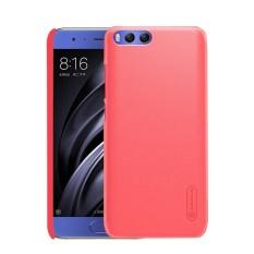NILLKIN Frosted SHIELD untuk Xiaomi Mi 6 Tekstur Cembung Cekung PC Pelindung Case Kembali Cover (Merah) -Intl