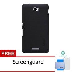 Beli Nillkin Frosted Shield Hard Case Original For Sony Xperia E4 Hitam Free Screen Protector Nillkin Cicilan