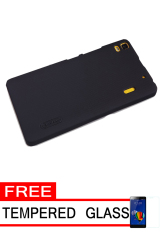 Nillkin Frosted Shield Hardcase for Lenovo A7000 - Black + Free Tempered Glass