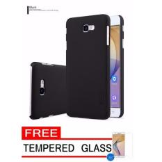 Nillkin Frosted Shield Hardcase for Samsung Galaxy J7 Prime - Black + Free Tempered Glass