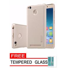 Nillkin Frosted Shield Hardcase for Xiaomi Redmi 3s Pro/Prime  - Gold + Free Tempered Glass