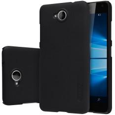 NILLKIN Frosted Shield Matte Plastik Case Cover Shell (dengan Screen Protector Film) untuk Microsoft Lumia 650 (Hitam)-Intl-Intl