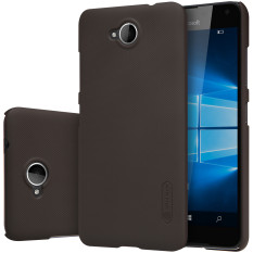 NILLKIN Frosted Shield Matte Plastik Case untuk Microsoft Lumia 650 (Hitam)-Intl