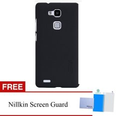 Nillkin Huawei Ascend Mate 7 Super Frosted Shield Hard Case Original - Hitam + Gratis Anti Gores Clear