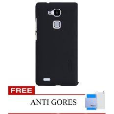 Nillkin Huawei Ascend Mate 7 Super Frosted Shield - Hitam + Gratis Anti Gores Clear Nillkin