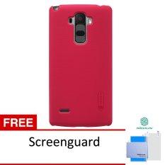 Nillkin Lg G4 Stylus Super  Frosted Shield - Merah + Gratis Anti Gores(Red)