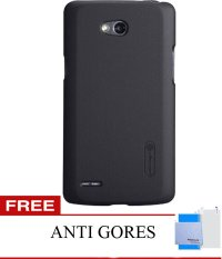 Nillkin LG L80 Super Frosted Shield - Hitam + Gratis Anti Gores