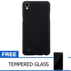 Nillkin LG X Power / K220Y Super Frosted Hardcase back cover Hard Case Original – Hitam + Gratis Tempered Glass