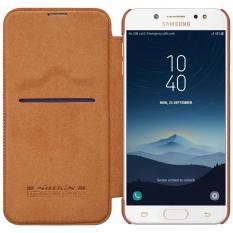 Nillkin Original Qin Series Leather case for Samsung Galaxy J7 Plus ( J7100/C8 ) - Coklat