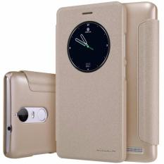 Nillkin Original Sparkle Series New Leather Case For Lenovo K5 Note - Emas(Gold)
