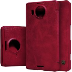 Nillkin Qin Leather Case for Microsoft Lumia 950 XL Casing Cover Flip - Maroon