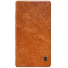 Nillkin Qin Leather Case for Microsoft Lumia 950 XL Casing Cover for Flip - Cokelat