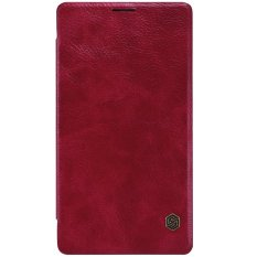 Nillkin Qin Leather Case Microsoft Lumia 950 XL Casing Cover Flip - Maroon