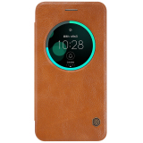 Beli Nillkin Qin Leather Case Original For Asus Zenfone 3 5 5Inch Ze552Kl Coklat Pakai Kartu Kredit