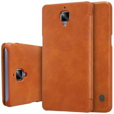 Toko Nillkin Qin Series Leather Case For Oneplus 3 3T A3000 A3003 A3005 A3010 Coklat Termurah