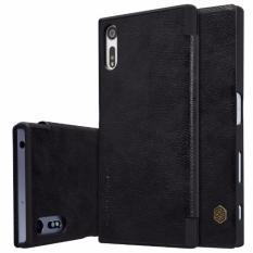 Beli Nillkin Qin Series Leather Case For Sony Xperia Xz Hitam Nillkin Murah