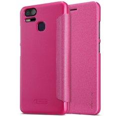 NILLKIN Sparkle Jenis Buku Ultra Tipis Flip Up PU Kulit Slim Cover Case untuk ASUS ZenFone 3 Zoom ZE553KL (merah) -Intl