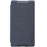 Harga Hemat Nillkin Sparkle Flip Case Cover Sony Xperia Z5 Compact Hitam