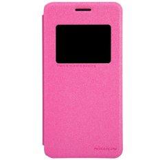 Nillkin ORIGINAL Sparkle Asus Zenfone 5 - Pink/Merah Muda Leathercase Bookcase Flipcase Flipcover Casing Kulit Casing HP Casing Handphone
