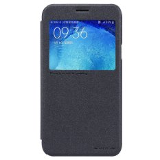 Beli Nillkin Sparkle Leather Case Flip Case Cover Original Samsung Galaxy J7 Hitam Nillkin