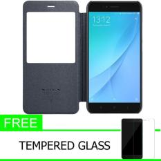 Beli Nillkin Sparkle Leather Case Flip Case Cover Original Xiaomi Mi5X Mi 5X Mi A1 Hitam Gratis Tempered Glass Online Murah