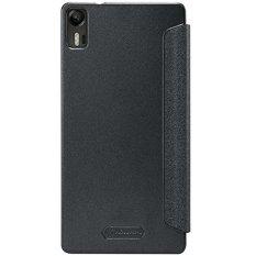 Nillkin Sparkle Leather Case for Lenovo Vibe Shot Z90 Casing Cover for Flip - Hitam