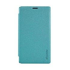 Nillkin Sparkle Leather Case Microsoft Lumia 435 Casing Cover Flip - Biru