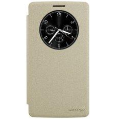 Nillkin Sparkle Leather Case Original untuk LG G4 Stylus - Emas