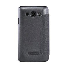 Nillkin Sparkle Leather Case untuk LG L60 X145 Casing Cover Flip - Hitam