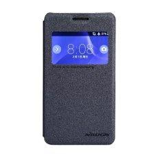 Nillkin Sparkle Leather Case untuk Sony Xperia E1 Casing Cover Flip - Hitam