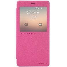 Nillkin Sparkle Leather Flip Cover untuk Xiaomi Mi Note / Mi Note Pro 5'7 inc - Merah Muda
