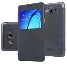 NILLKIN Sparkle PU Leather Flip Cover untuk Samsung Galaxy On7 2015/G600 dengan Paket Eceran (Hitam) -Intl