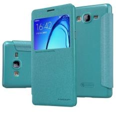 NILLKIN Sparkle PU Leather Flip Cover untuk Samsung Galaxy On7 2015/G600 dengan Paket Ritel (Biru) -Intl