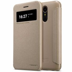 Nillkin Sparkle Series New Leather case for LG K10 (2017) - Emas