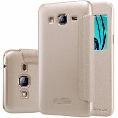 Nillkin Sparkle Series New Leather case for Samsung Galaxy J3 - Emas