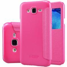 Nillkin Sparkle Series New Leather case for Samsung Galaxy J5 (Thin ed.) - Merah