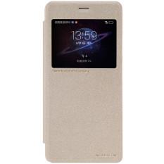 NILLKIN Kilauan Smart Window View PU Kulit Flip Penutup Case untuk Huawei Kehormatan V8 (Emas
