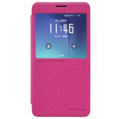 NILLKIN Sparkle Window View Smart Sleep APP PU Kulit Flip Penutup Ponsel Case untuk Samsung Galaxy