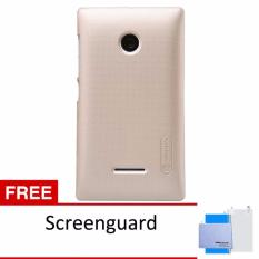 Nillkin Super Frosted case for Microsoft Lumia 532 - Emas + free screen protector