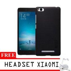 Nillkin Super Frosted Hardcase untuk Xiaomi Mi4i + Gratis Headset Xiaomi - Hitam
