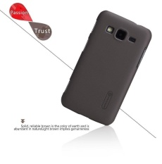 NILLKIN Super Frosted Shield Hard Back Cover untuk SAMSUNG GALAXY CORE Advance I8580 dengan Screen Protector (Brown) -Intl