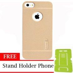 Nillkin ORIGINAL Super Frosted Shield Apple Iphone 5/5G/5S/SE - Gold/Emas Hardcase Backcase Backcover Case HP Casing Handphone